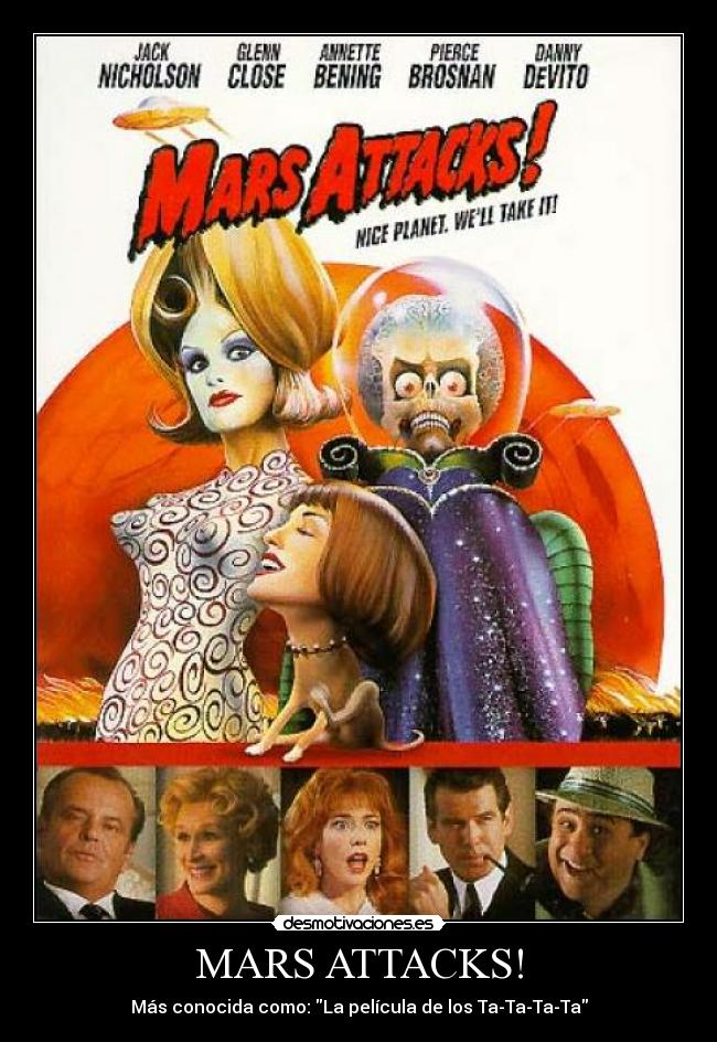 carteles mars attacks aliens desmotivaciones