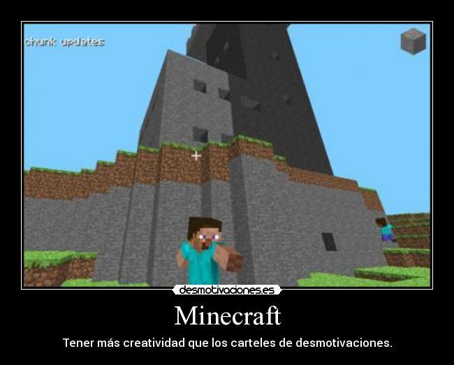 carteles minecraft imaginacion desmotivaciones desmotivaciones