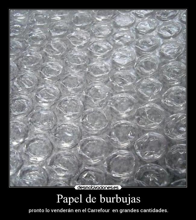 papel de burbujas desmotivaciones