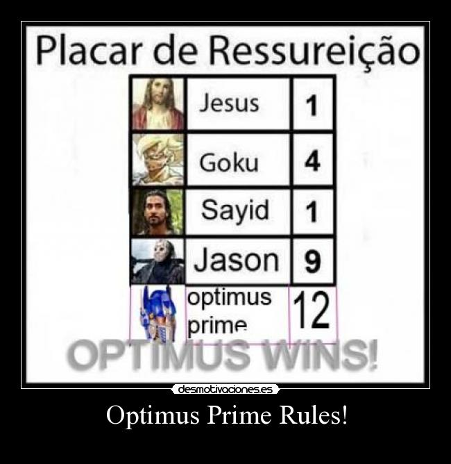 Optimus Prime Rules! -
