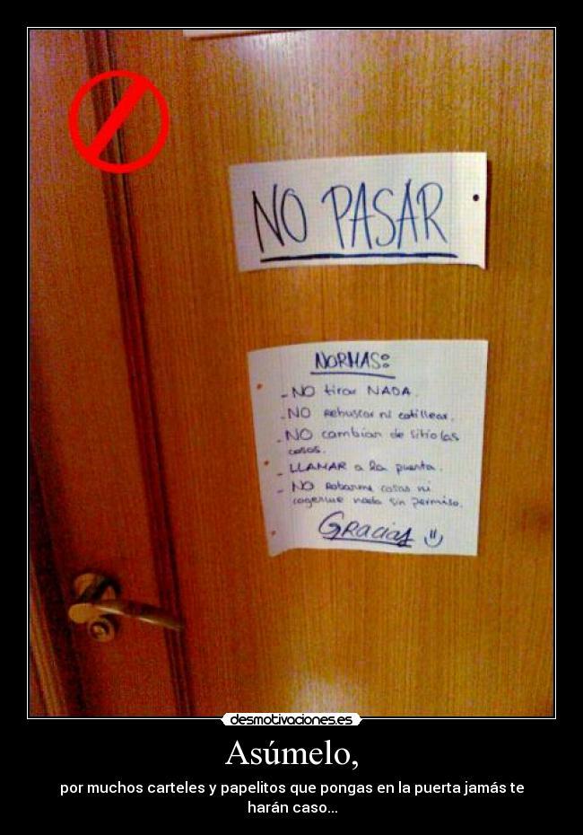 Cuarto poder facebook rachael edwards - Carteles para puertas habitaciones ...