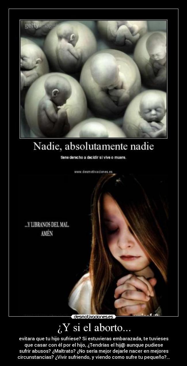 Y si el aborto...   Desmotivaciones