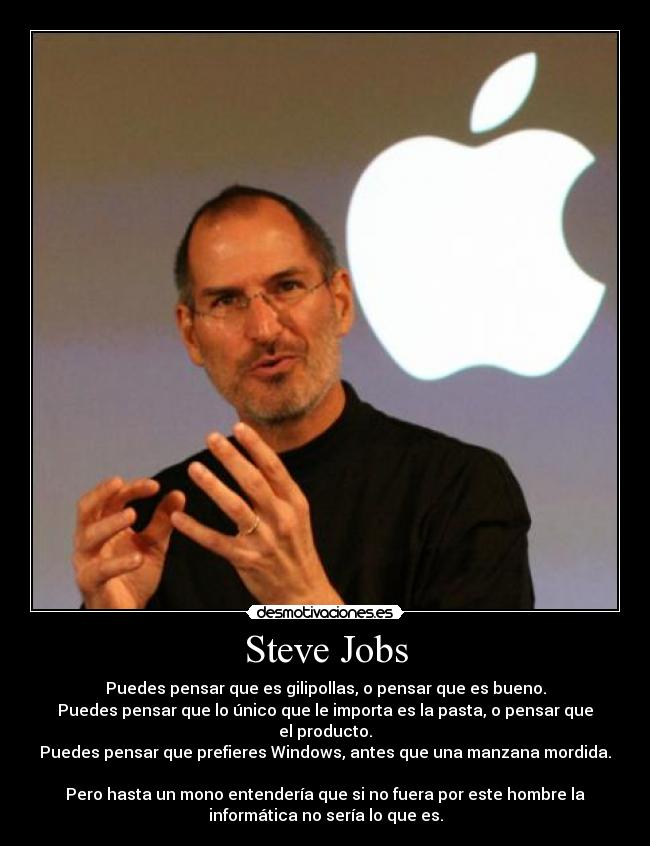carteles steve jobs apple store ipod iphone itouch imac ipad desmotivaciones