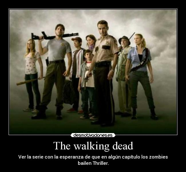 carteles thriller the walking dead michael jackson desmotivaciones