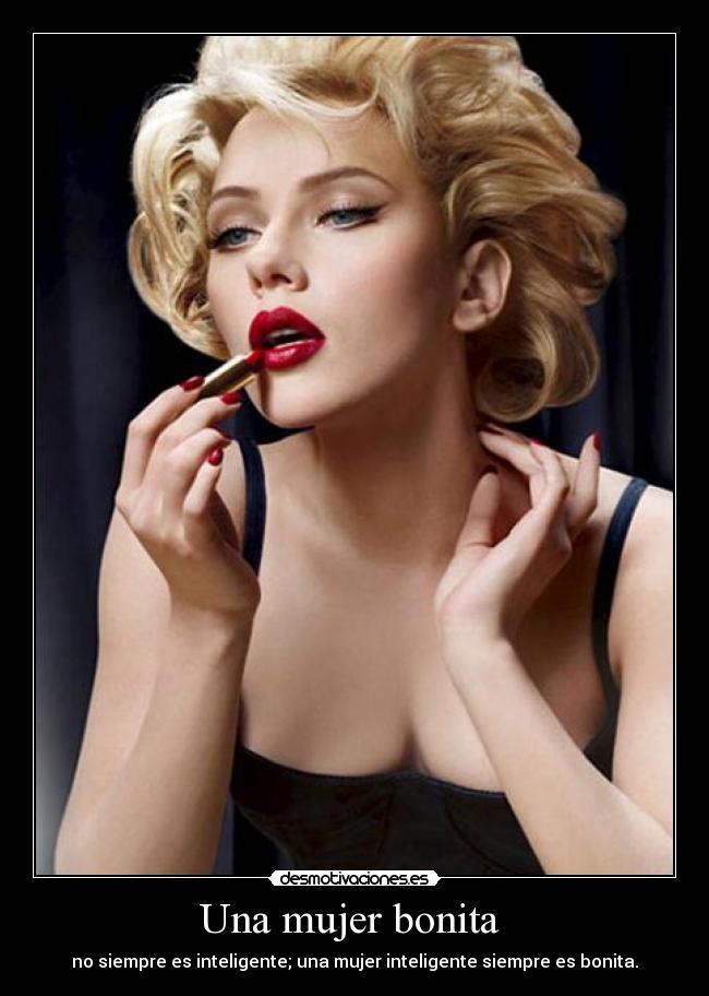 carteles mujer mujer belleza inteligencia desmotivaciones