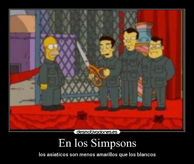 carteles simpsons asiaticos amarillos simpsons desmotivaciones