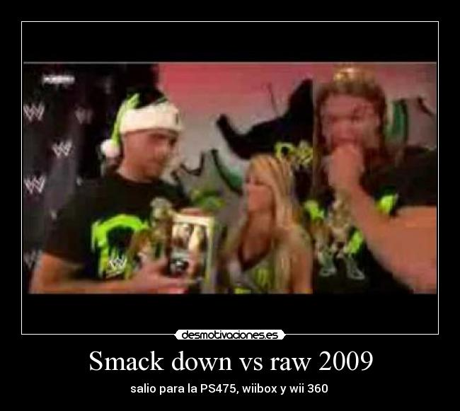 Smack down vs raw 2009 - salio para la PS475, wiibox y wii 360