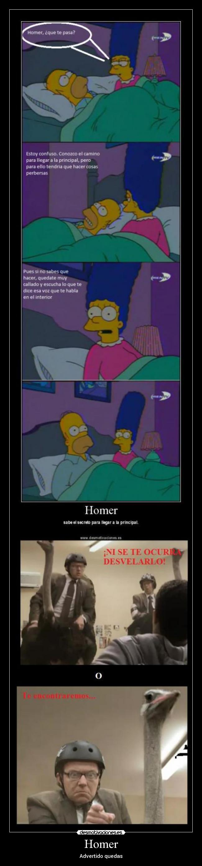Homer - Advertido quedas
