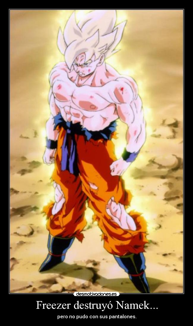 carteles son goku goku dragon ball pedobear anime super saiyan freezer desmotivaciones