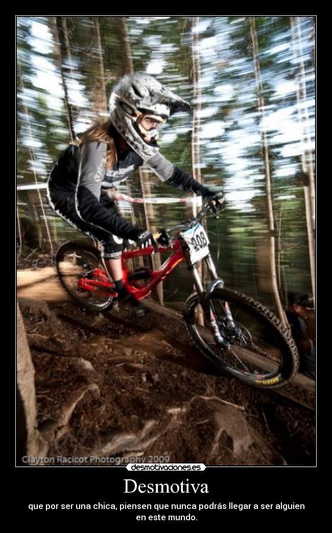carteles chicas moto motocross cross feminas mx todos dh downhill ganar desmotivaciones
