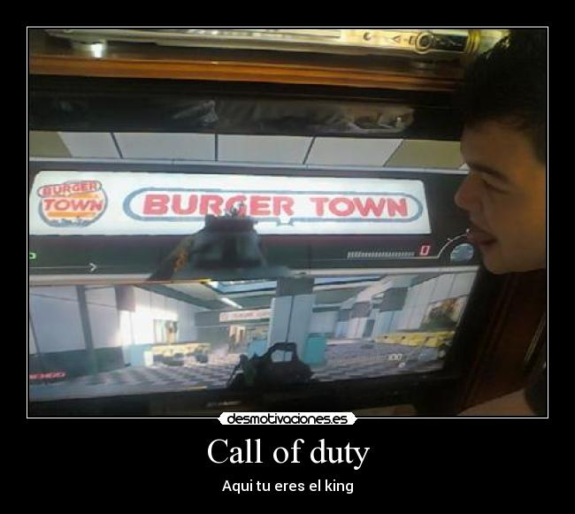 carteles burger king call duty desmotivaciones