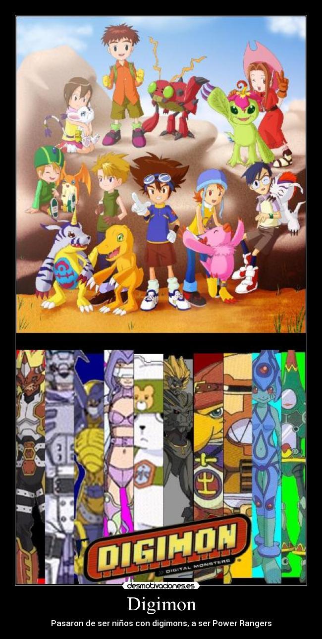 San Entar 7 Carteles Y Desmotivaciones De Digimon Power Rangers