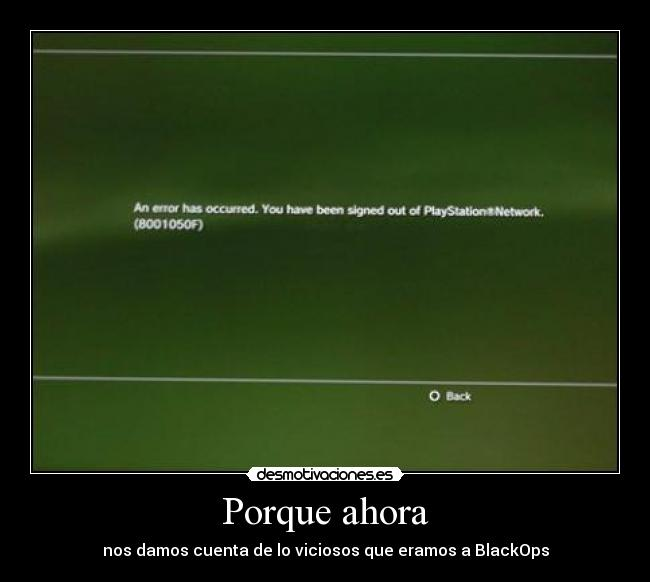 carteles ps3 black ops play station network anonymous desmotivaciones