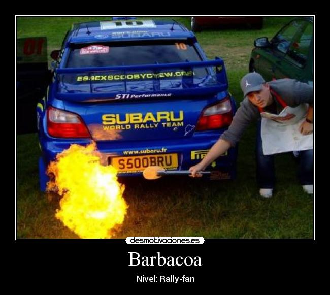 Barbacoa - Nivel: Rally-fan