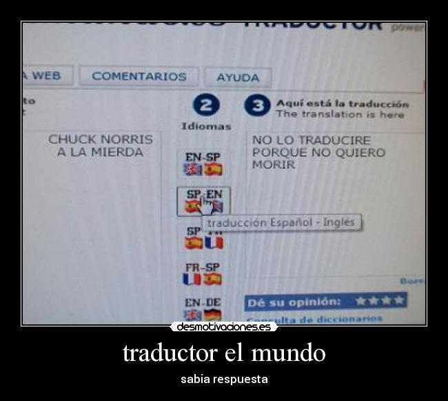 Traductor el mundo