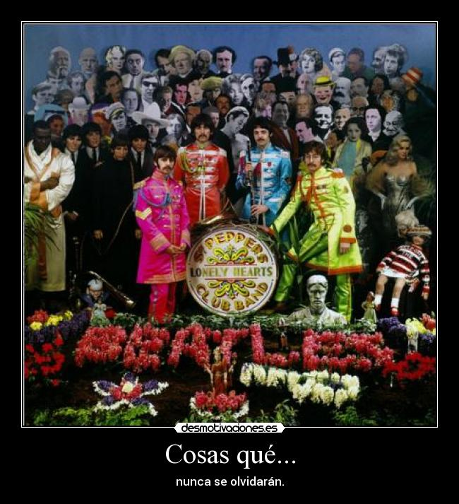 carteles the beatles sgt peppers lonely hearts club band ringo paul john george desmotivaciones