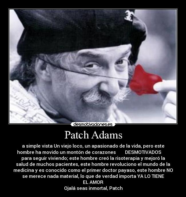 """patch adams movie reflection Patch adams: summary and reflection a reflection paper i made for our film showing and critic in moral theology the movie """"patch adams"""" begins."""