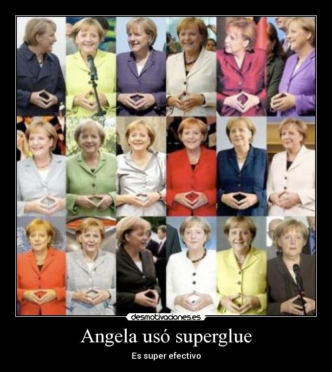 Angela usó superglue - Es super efectivo