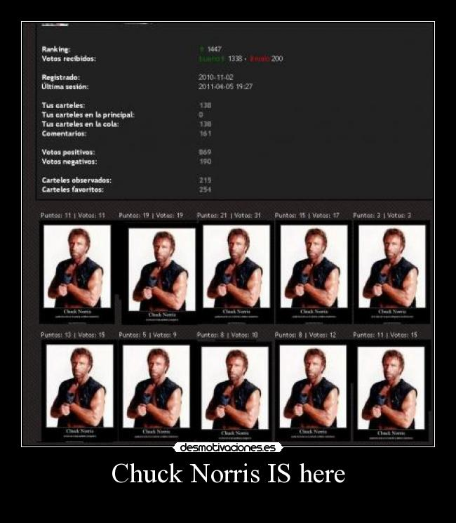 Chuck Norris IS here -