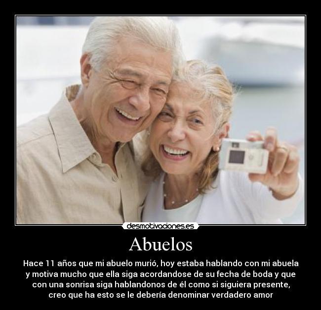 carteles verdadero amor abuelos desmotivaciones