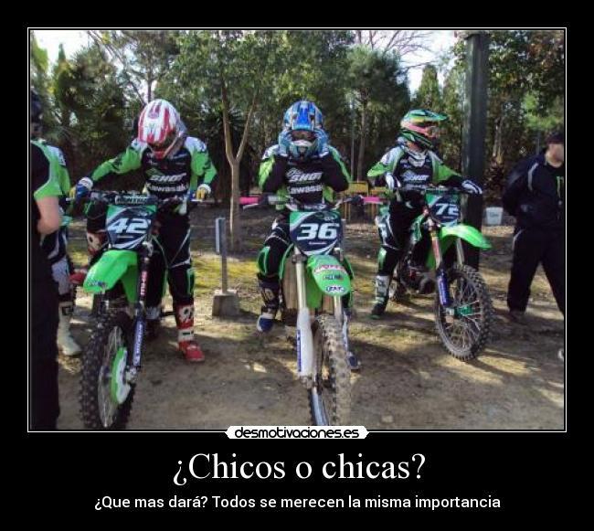 carteles chicas moto motocross cross feminas mx todos desmotivaciones