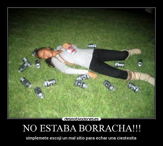 A la muchacha adolescente borracha
