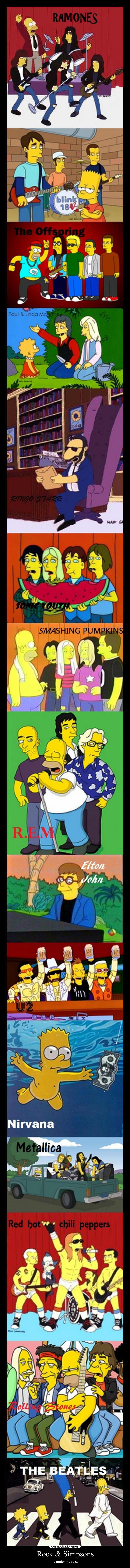 carteles rock simpsons simpson mezcla ramones blink rock offspring desmotivaciones