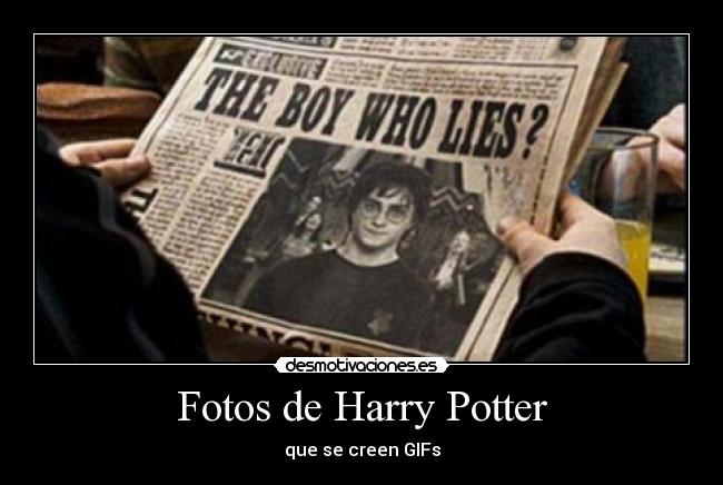 Fotos de Harry Potter - que se creen GIFs