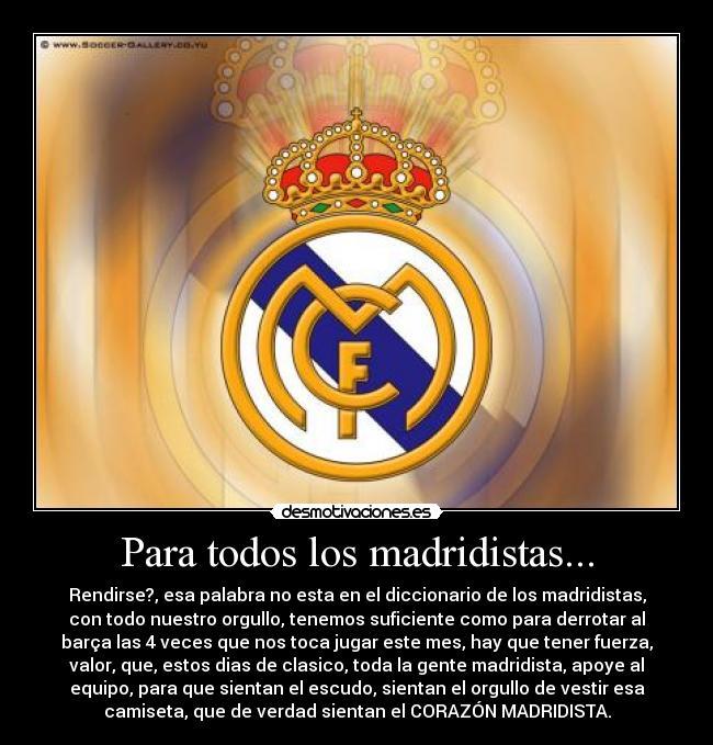 Imagenes de real Madrid con frases bonitas - Imagui