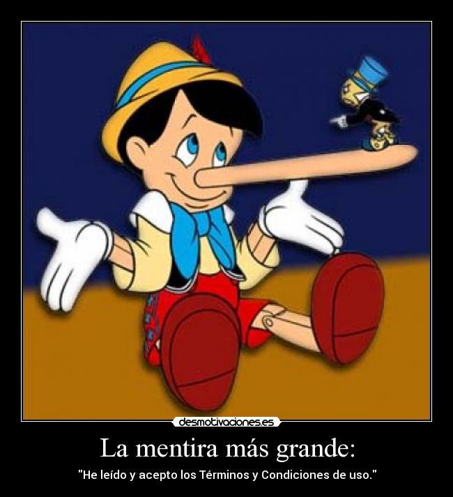 grandes mentira: