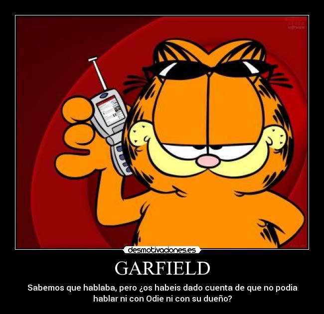 Carteles Garfield Habalr Cosas Desmotivaciones
