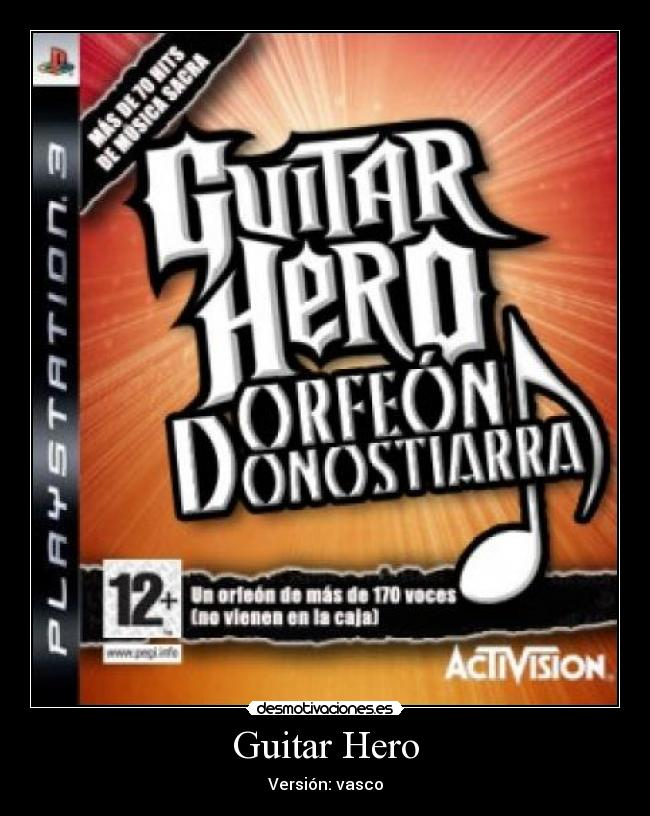 Guitar Hero - Versión: vasco