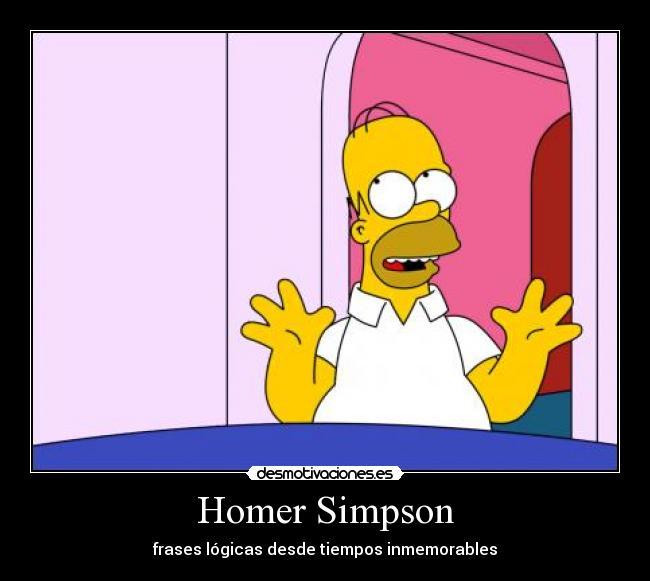 Homer Simpson Desmotivaciones