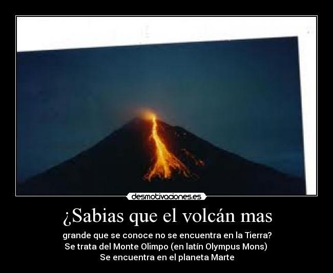 ¿Sabias que el volcán mas | Desmotivaciones