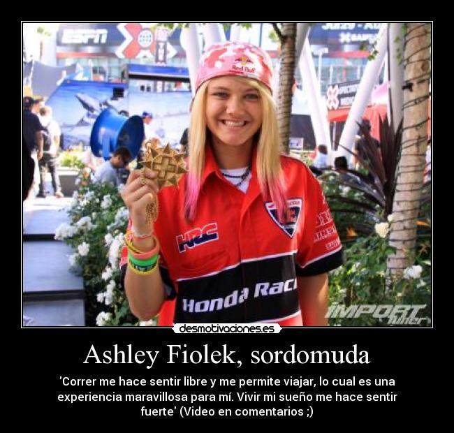 carteles ashey fiolek sordomuda chica gana motocross desmotivaciones