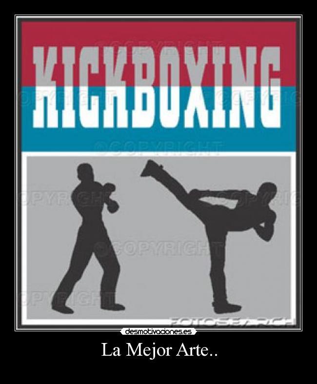 carteles arte kickboxing desmotivaciones