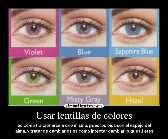 carteles lentillas colores desmotivaciones - Lentilles Colores