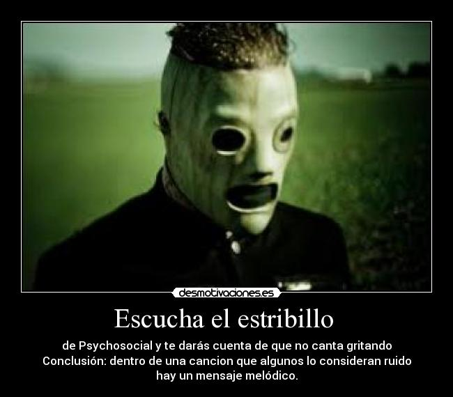Slipknot - Desmotivaciones - Taringa!