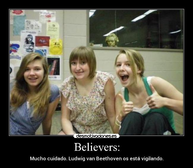 carteles believers beethoven desmotivaciones