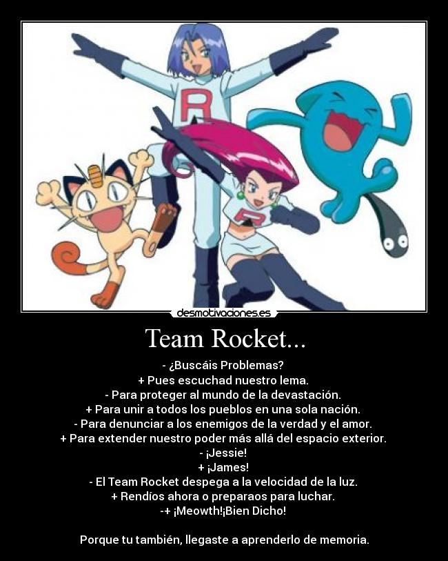 carteles pokemon team rocket desmotivaciones