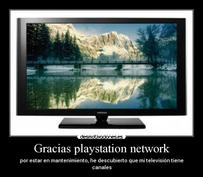 Gracias playstation network -