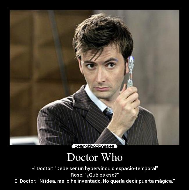 carteles david tennant doctor who rose desmotivaciones
