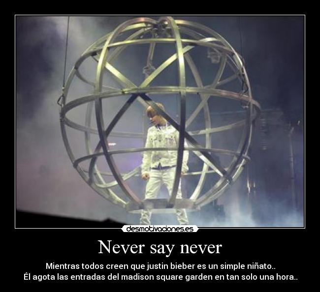 Never say never -
