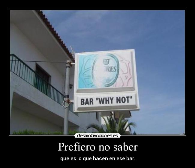 carteles bar zorra implakable desmotivaciones