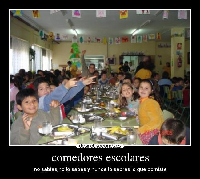 Comedores Escolares Desmotivaciones