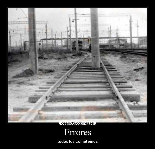 Errores - todos los cometemos