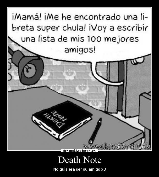 carteles anime deathnote light desmotivaciones