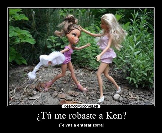 carteles barbie ken zorra muneca desamor desmotivaciones