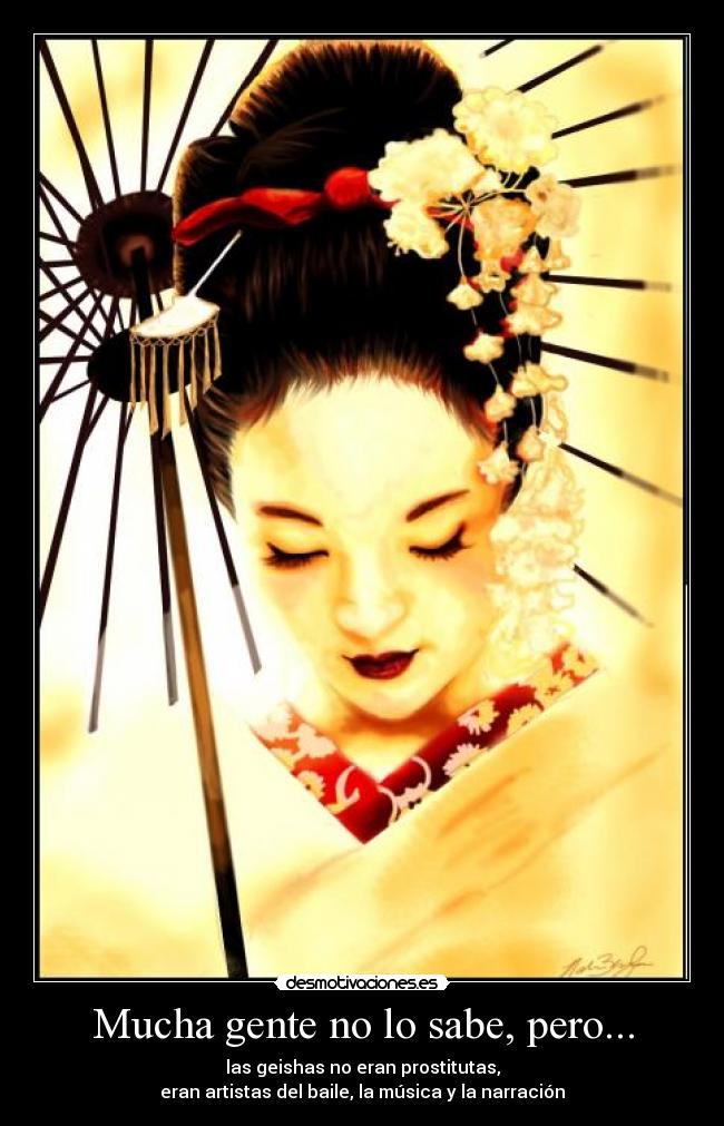 opinion prostitutas las geishas eran prostitutas