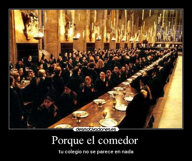 Usuario rubeus hagrid desmotivaciones for Comedor harry potter